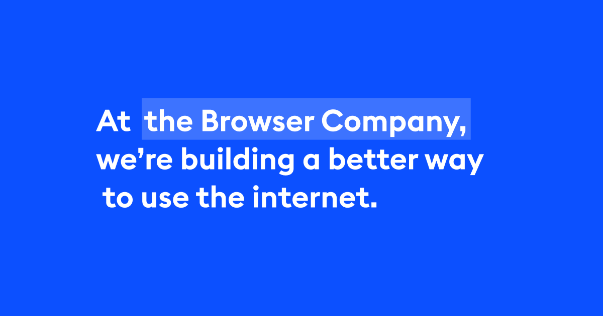 the browser company